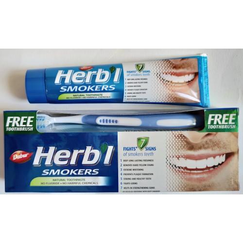 """Dabur - Зубная паста """"Для курильщиков"""" (150 грамм) + зубная щётка"""
