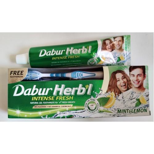 "Dabur - Зубная паста ""Мята с лимоном"" (150 грамм) + зубная щётка"